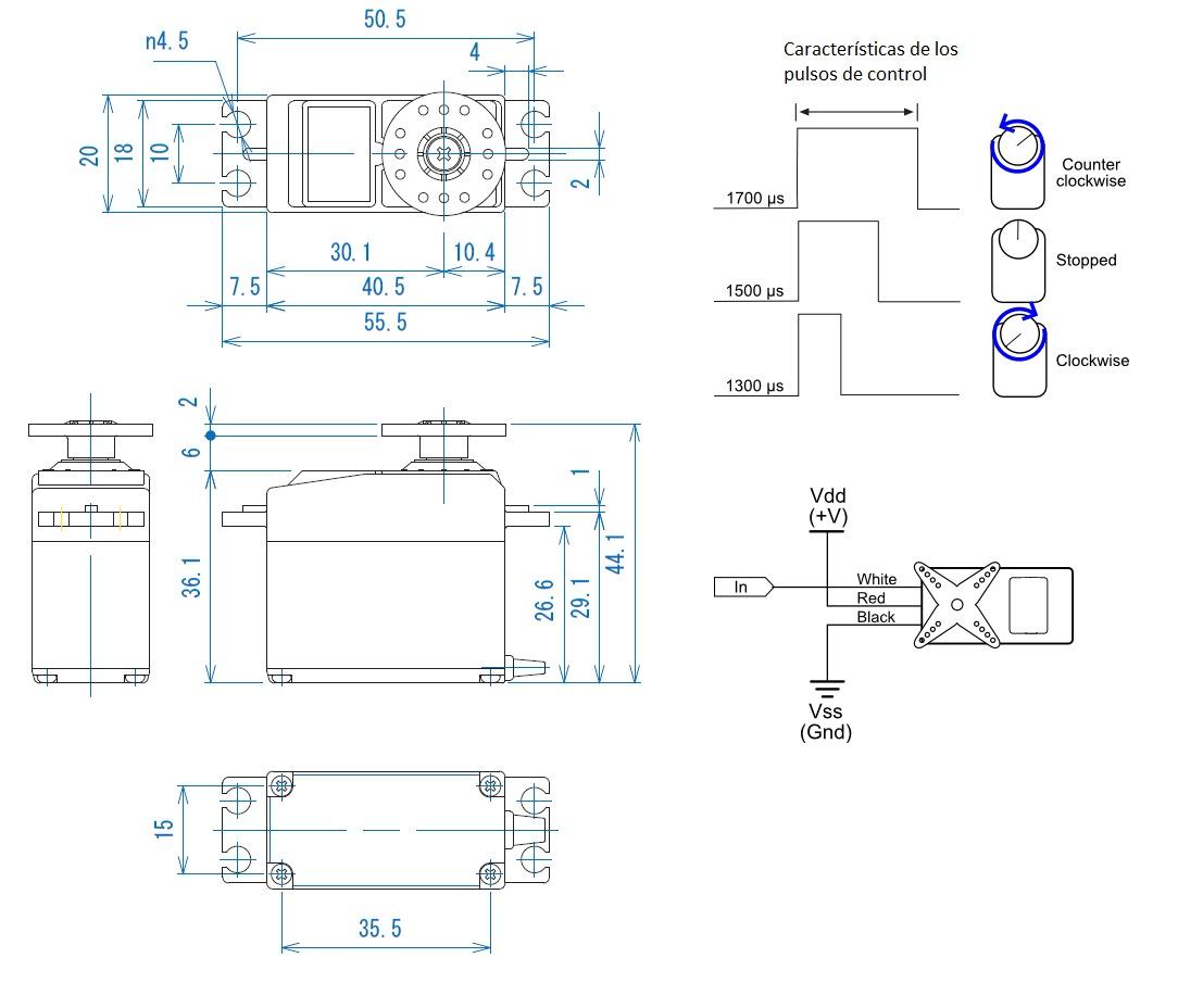 耐用外殼,與各品牌接收器兼容。速度快,扭力大,精確度高,配件齊全(包括照片裡沒有拍的附件:5個螺絲,螺絲套,減震膠墊)。 技術參數: Futaba S3003標準舵機,使用在車、船等遙控模型上.可替代Futaba的S138、S148、S22、S38和S12。 參數: 速度: 0.23秒/60度(4.8V)&nbsp。 &nbsp。&nbsp。&nbsp。&nbsp。&nbsp。&nbsp。 0.